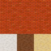 pic of brick block  - Set of brick wall backgrounds - JPG