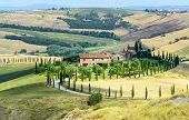 stock photo of senesi  - Crete senesi characteristic landscape in province of Siena  - JPG