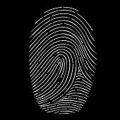 image of fingerprint  - fingerprint isolated on a black background - JPG