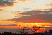 picture of breathtaking  - Breathtaking view of sunset cloudy sky - JPG