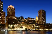 image of row houses  - Boston Custom House - JPG