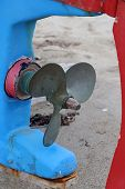 picture of boat  - Old boat engine propeller - JPG