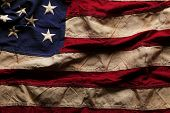 pic of memorial  - Old American flag background for Memorial Day or 4th of July - JPG