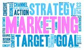 picture of market segmentation  - Marketing word cloud on a white background - JPG