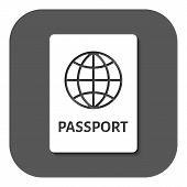 stock photo of citizenship  - The passport icon - JPG