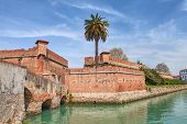 foto of leghorn  - the old fortress Fortezza Nuova in Livorno - JPG