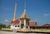 pic of crematory  - Crematory with sky background at Wat Bang yhetho - JPG
