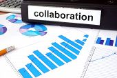 pic of collaboration  - Folder with the label collaboration and charts - JPG