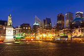 pic of prime-minister  - Downtown of The Hague Netherlands - JPG