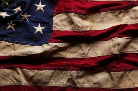 picture of memorial  - Old American flag background for Memorial Day or 4th of July - JPG