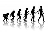 Постер, плакат: Man evolution
