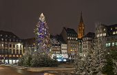 Christmas Tree In The City Square