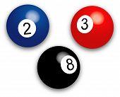 Pool Balls - Vector Illustration