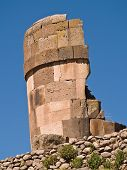 pic of urn funeral  - Sillustani Funeral Towers in the Andes - JPG