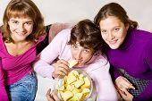 Teens Eating Crisps
