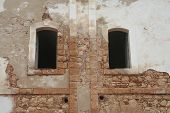 Windows in Old Fort Wall