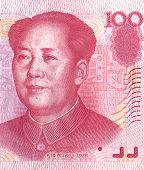 Detail Of A One Hundred Chinese Yuan Bill