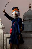 Sikh Gurudwara Leader Smiling