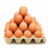 Pyramid Of Brown Eggs