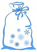 Bag with snowflakes