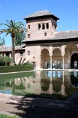 Romantic home with blue door and