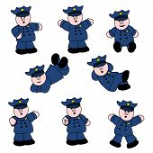 People Professions - Policeman Set 01