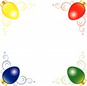 Corner Art Of Bright And Colorful Vector Christmas Lights