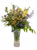 Bouquet Of Wild Flowers Isolated