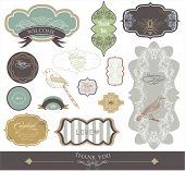 label scrap-booking sticker set -best card elements