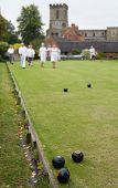 People Playing Flat Lawn Bowls