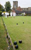 People Playing Flat Lawn Bowls