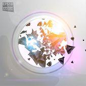 Eps10. Frisches Design-Idee mit leuchtenden Element um Aufmerksamkeit auf Ihre Nachricht. Voll editierbar.