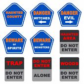 Halloween Signs Collection