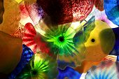 Glass Floral Decorations