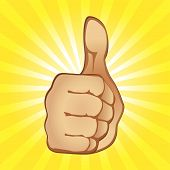 stock photo of thumbs-up  - Thumb Up Gesture  - JPG