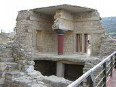 Ruins At Palace Of Knossos