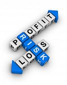 stock photo of blue white  - Risk Profit and Loss   - JPG