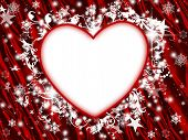 Winter Holiday Floral Heart Frame