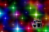 Festive Starry Lights Background