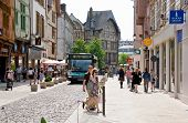 Shoping Street In Troyes, Frankreich