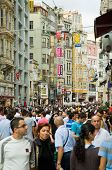 Crowd In Istiklal Avenue In The Beyoglu District
