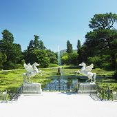 Lago do Triton, jardins de Powerscourt, County Wicklow, Irlanda