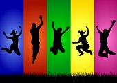 Colorful Jump For Joy