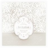 Invitation, anniversary card with label for your personalized text in shades of subtle off-whites an