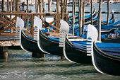 Gondola Prows In Venice