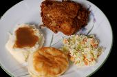 Fried Chicken And Mashed Potatoes