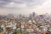 The City Of Manila, The Capital Of The Philippines. Modern Metropolis In The Morning, Top View. New  poster