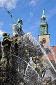 Neptune Fountain & Marienkirche, Berlin