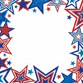 Distressed Retro Stars Border