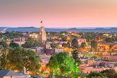Santa Fe, New Mexico, USA downtown skyline at dusk. poster